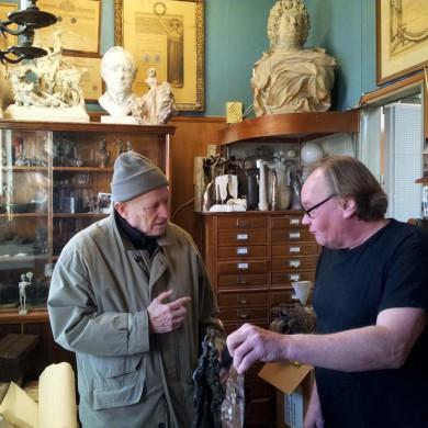 Foto: Jan Öqvist – SL. med Leif Schölin på Bergmans Konstgjuteri Enskede