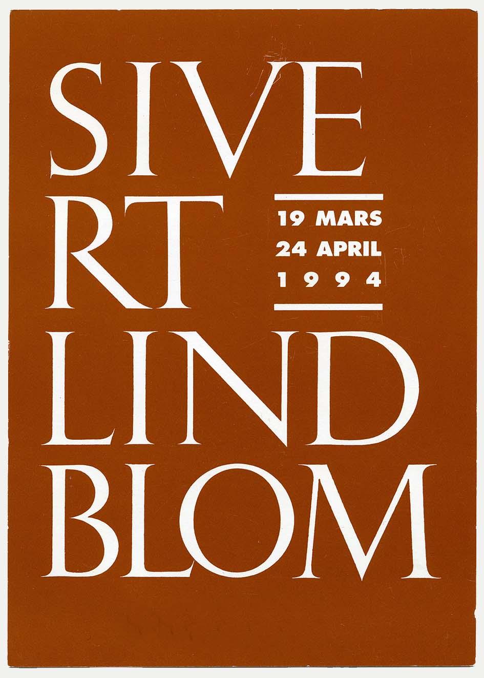 Sivert Lindblom Arkitekturmuseet 1