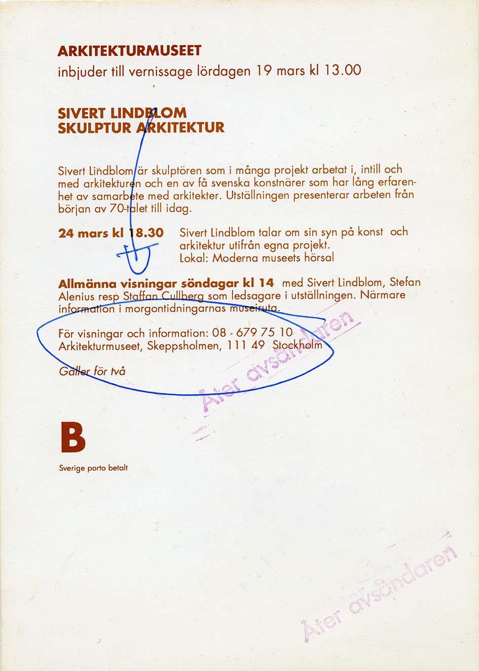 Sivert Lindblom Arkitekturmuseet 2
