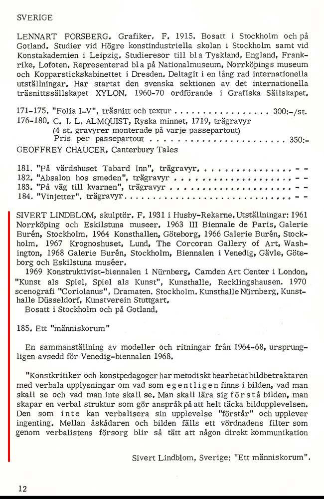 Sivert Lindblom Ars Baltica 1970 2