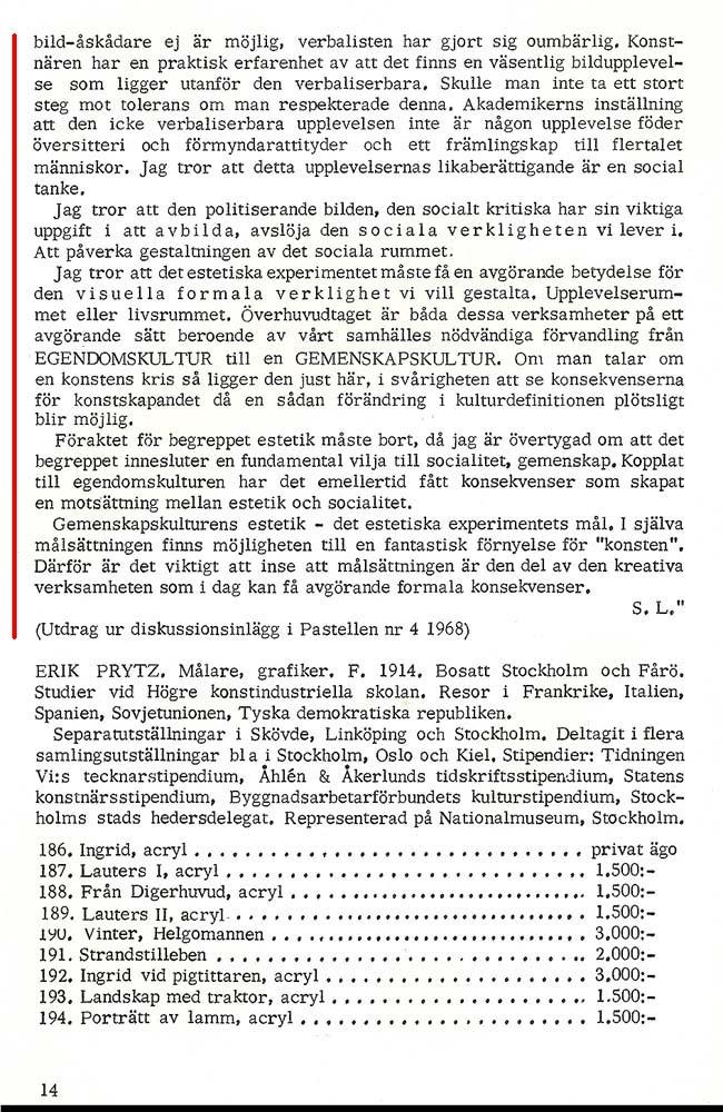 Sivert Lindblom Ars Baltica 1970  4