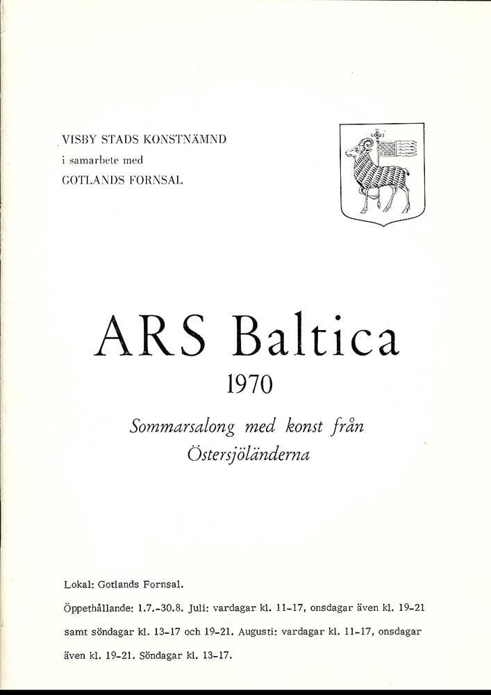 Sivert Lindblom Ars Baltica 1970
