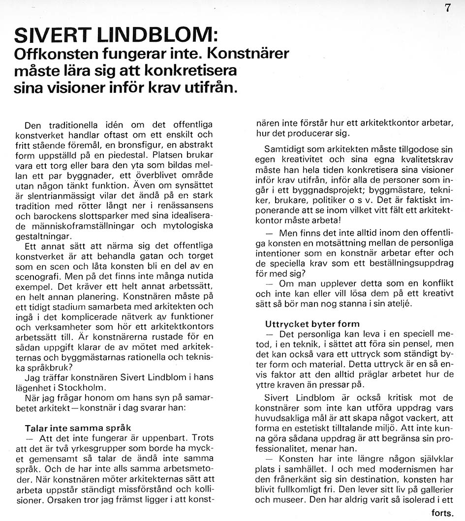 Sivert Lindblom Bra konst 1