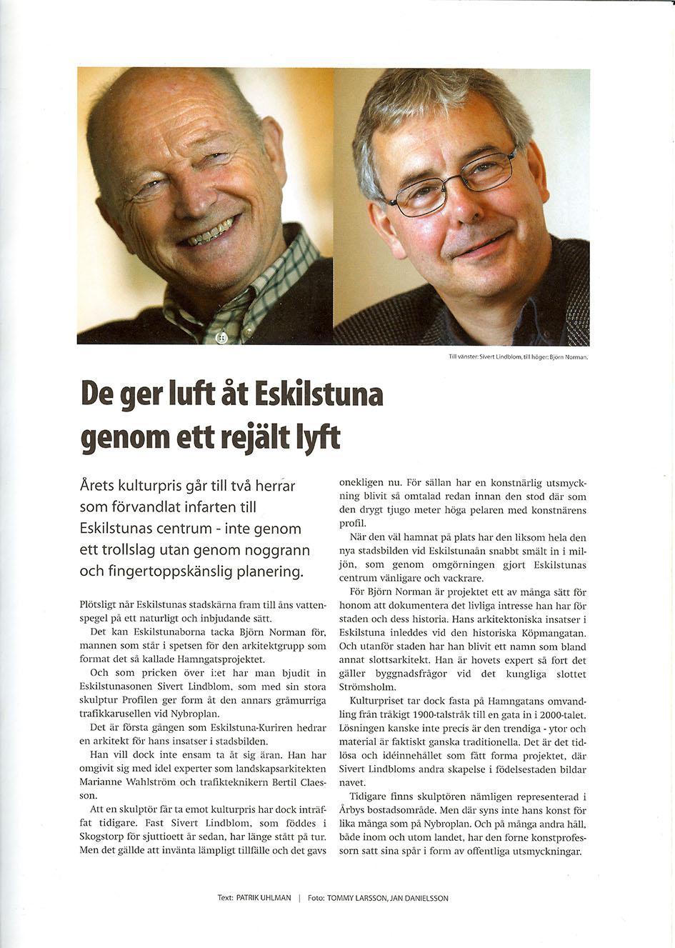 Sivert Lindblom Eskilstuna Kuriren Kulturpris 3-