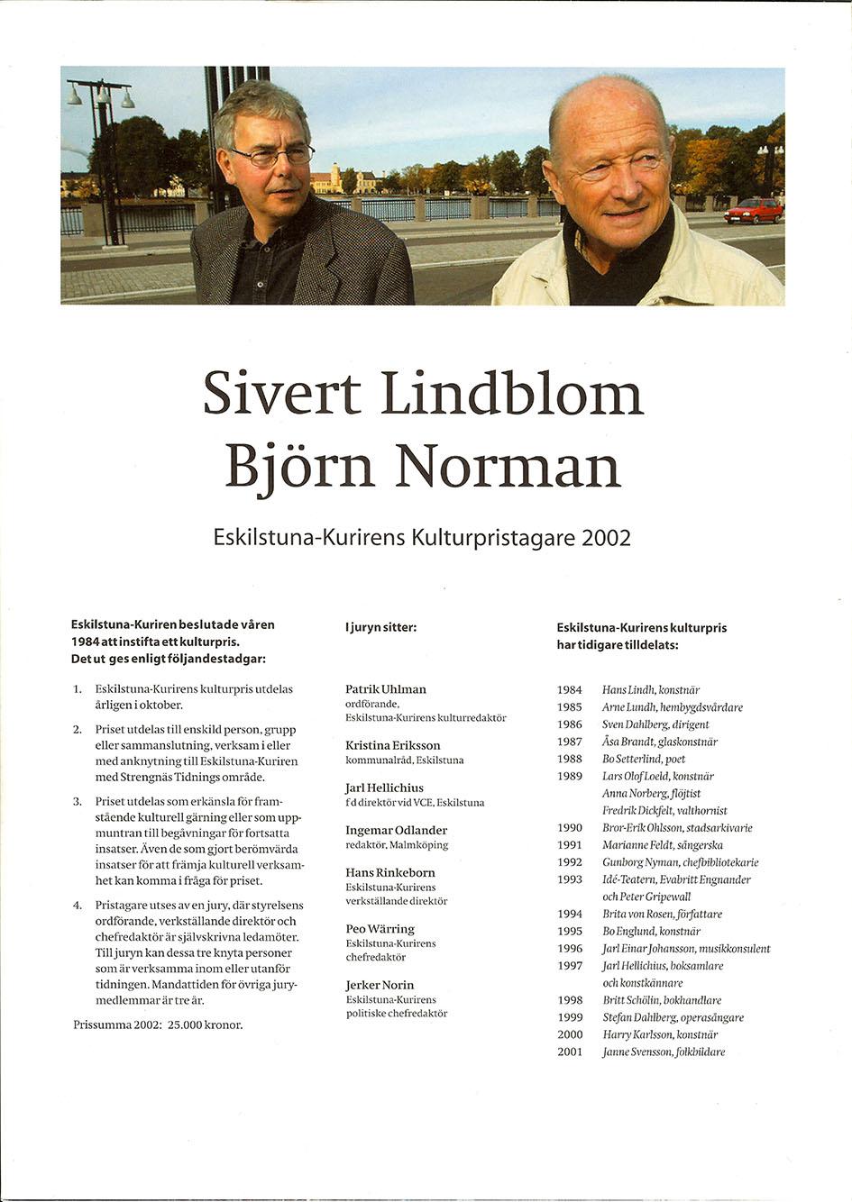 Sivert Lindblom Eskilstuna Kuriren Kulturpris 4-