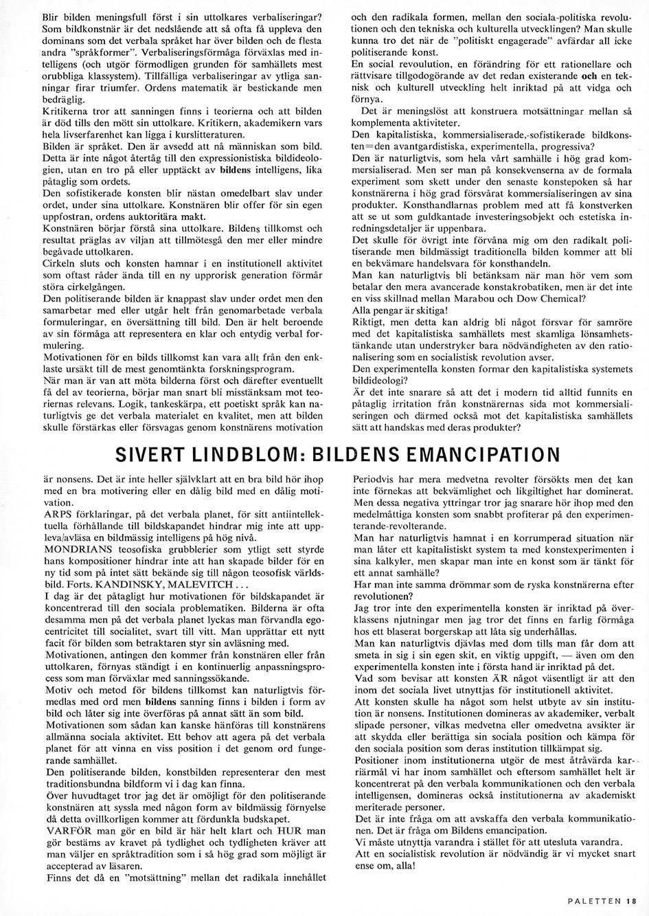 Sivert Lindblom Paletten Nr 2 1968 3-