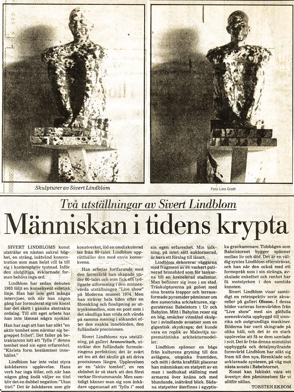 Sivert Lindblom Torsten Ekbom Aronowitsch 24.10 1981-