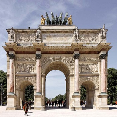 Arc de Triomphe du Carrousel in Place du Carrousel, Paris