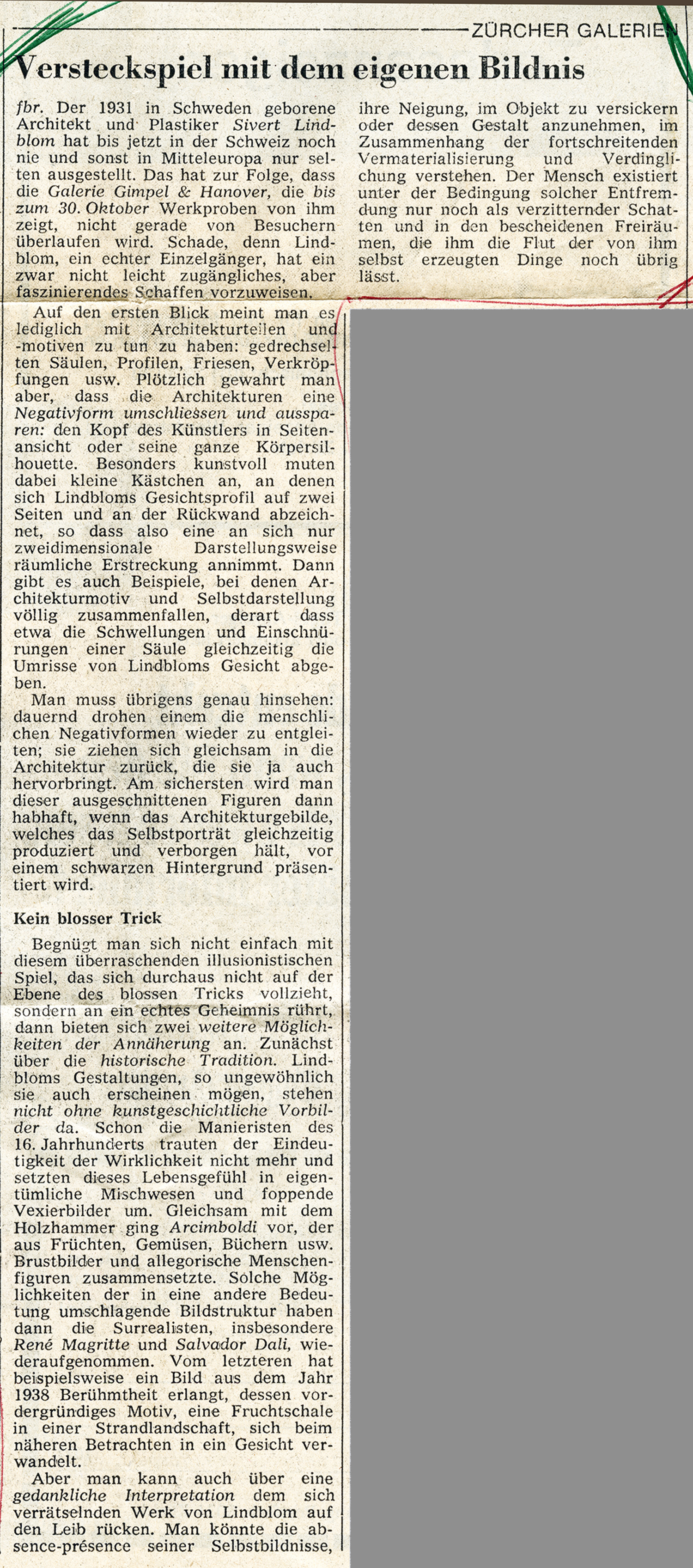 Tages Anzeiger 1971 15.10++
